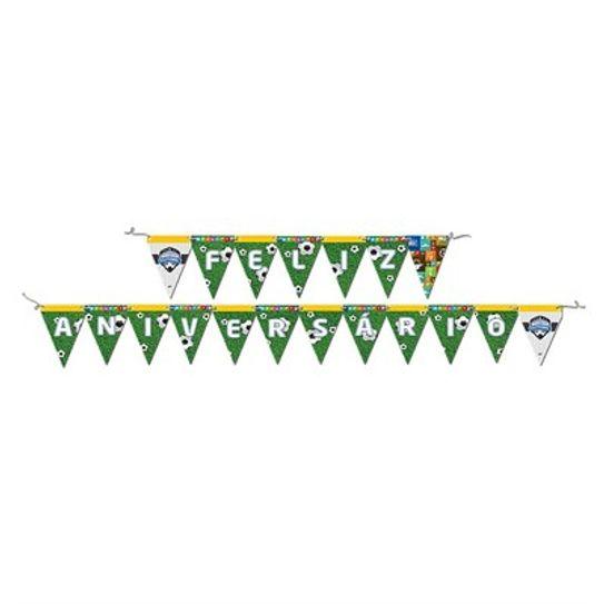 Faixa Feliz Aniversário - Apaixonados por Futebol - Festcolor