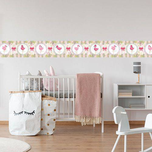 Faixa Infantil Flamingo Bebê Rosa