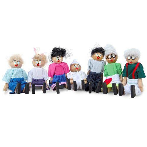 Família Terapêutica Branca com 7 Personagens 1062 - Carlu