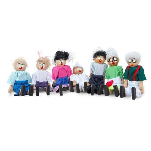 Familia Terapêutica Branca em Mdf 7 Personagens