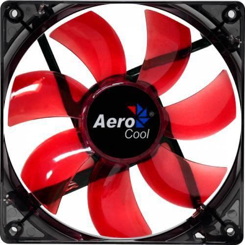 Fan Aerocool Lightning 12cm Vermelho