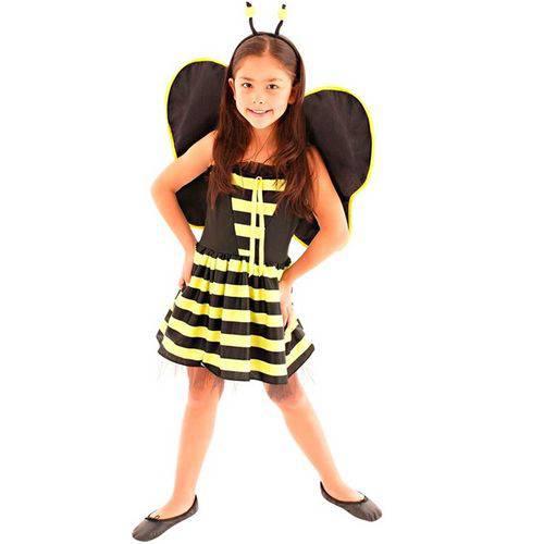 Fantasia Abelhinha Abelha Infantil Animais Completa com Asas Sulamericana