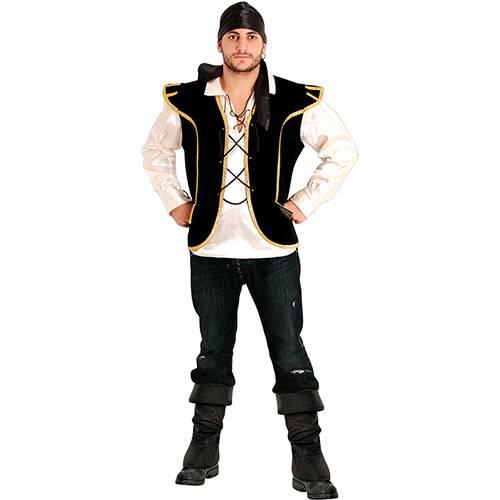 Fantasia Adulto Pirata Colete e Camisa - Sulamericana Fantasias