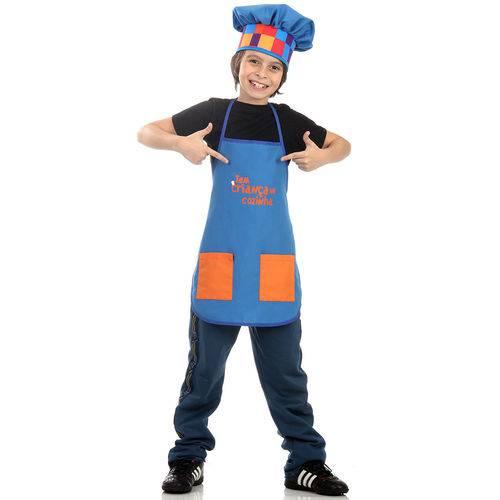Fantasia Avental Tem Criança na Cozinha Único 26403 Azul - Sulamericana