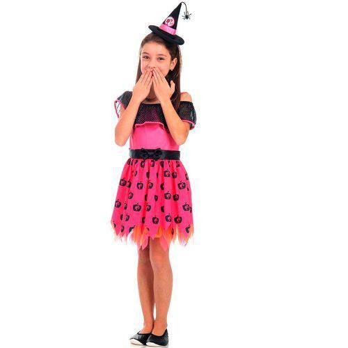 Fantasia Barbie Bruxinha Infantil com Mini Chapéu