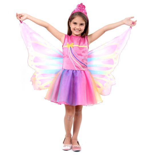 Fantasia Barbie Dreamtopia Fada Infantil P