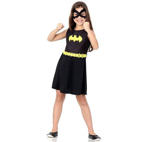 Fantasia Batgirl Liga da Justiça Tamanho P 3 a 4 Anos