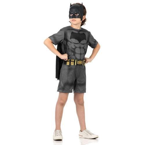 Fantasia Batman Infantil Original Sulamericana do Filme Batman Vs Superman Modelo Pop Manga Curta