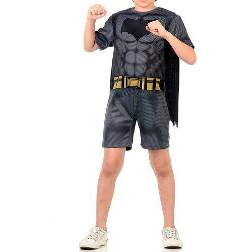 Fantasia Batman Infantil Curta Pop Batman Superman Tam M 6-8