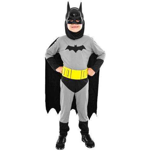 Fantasia Batman Infantil Liga da Justiça Sulamericana Completa - P 2 - 4
