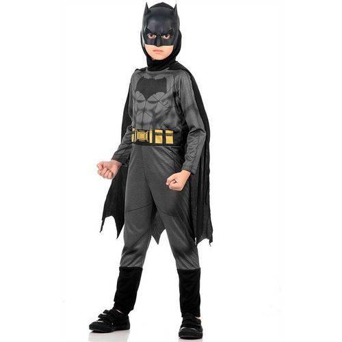 Fantasia Batman Infantil Longa Std - Batman Vs Superman Tamanho G (10 a 12 Anos)