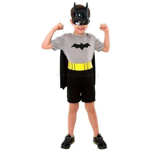 Fantasia Batman Infantil Pop Clássica com Máscara