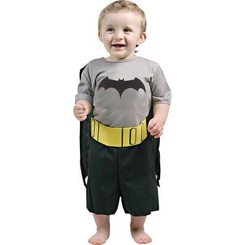 Fantasia Bebê Sulamericana Pop Batman Preto/Amarelo G