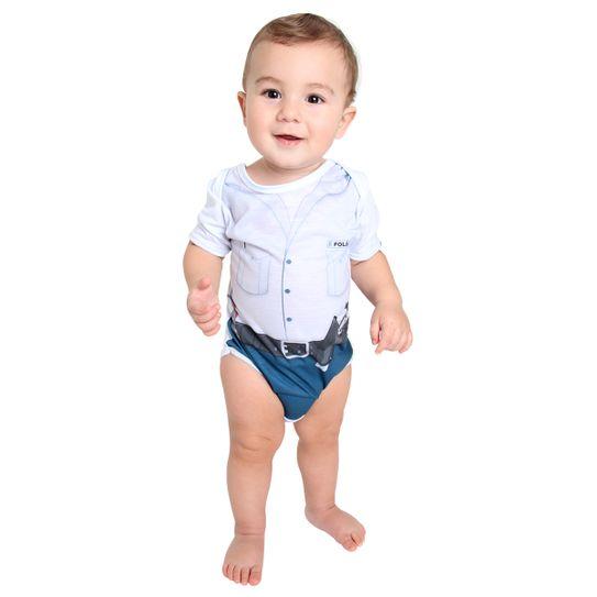 Fantasia Body Policial Bebê Verão M