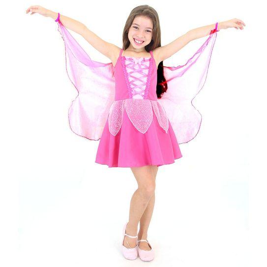 Fantasia Borboleta Infantil Pink P