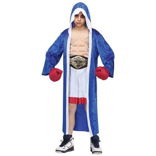 Fantasia Boxeador Infantil de Luxo com Peitoral e Luvas - PP 3 - 4