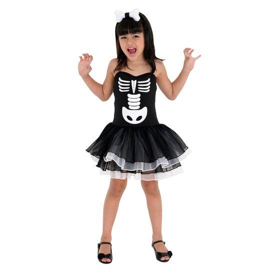 Fantasia Bruxa Esqueleto Infantil P