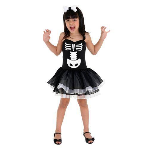Fantasia Bruxa Esqueleto Infantil