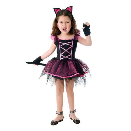 Fantasia Bruxa Gatinha Infantil