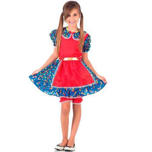 Fantasia Caipira Infantil com Culote Sulamericana Festa Junina - G 9 - 12