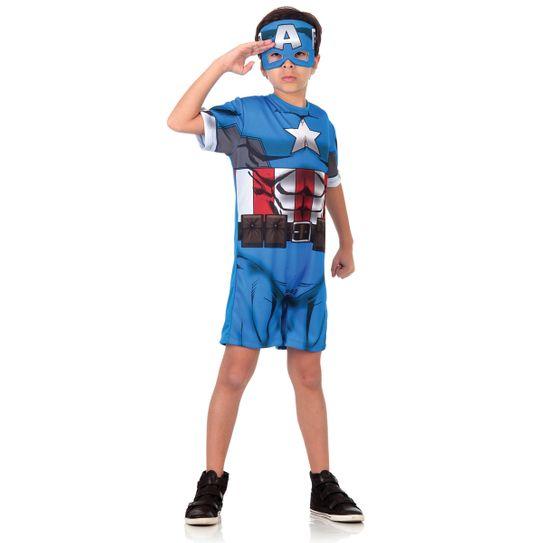Fantasia Capitão América Infantil Curto - Animação P