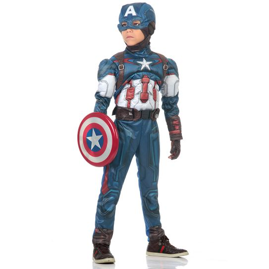 Fantasia Capitão América Infantil Peitoral - Avengers M