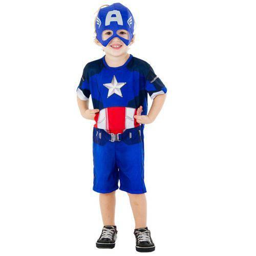 Fantasia Capitão América Pop - Infantil
