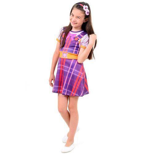 Fantasia Carinha de Anjo Dulce Maria Infantil Pop com Tiara