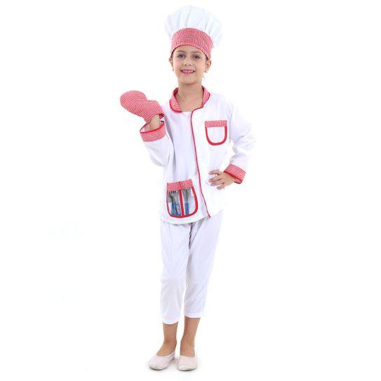 Fantasia Chef de Cozinha Infantil - Profissões