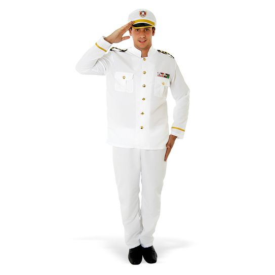 Fantasia Comandante Naval Adulto P