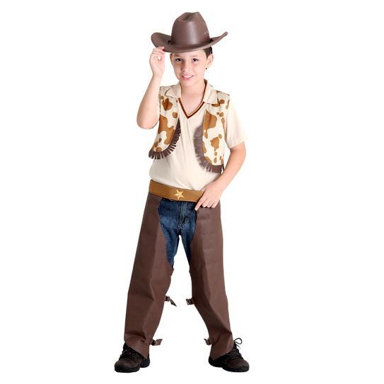 Fantasia Cowboy Infantil - Festa Junina P