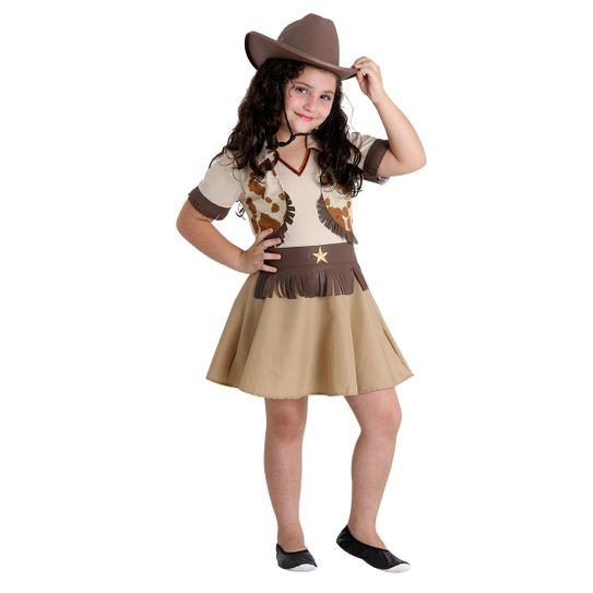 Fantasia Cowgirl Infantil - Festa Junina P