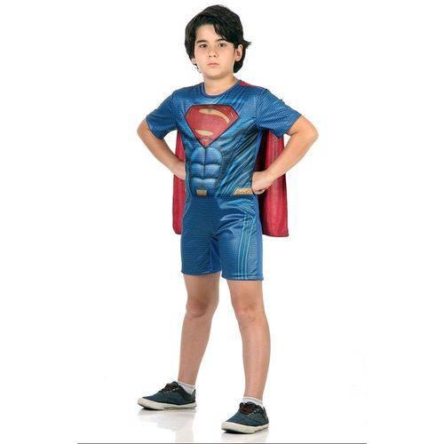 Fantasia Curta Super Homem Tamanho M Sulamericana 10893