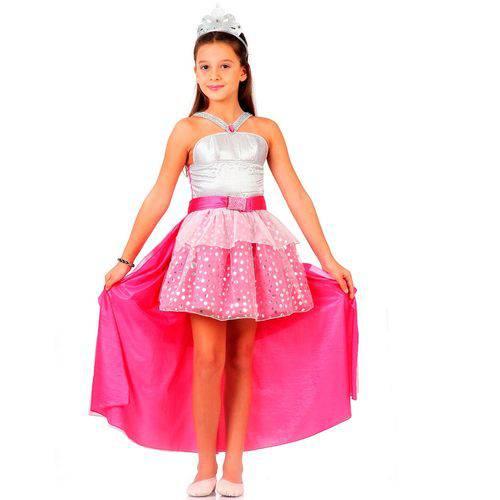 Fantasia da Barbie Rock N Royals Infantil Luxo - M 5 - 8