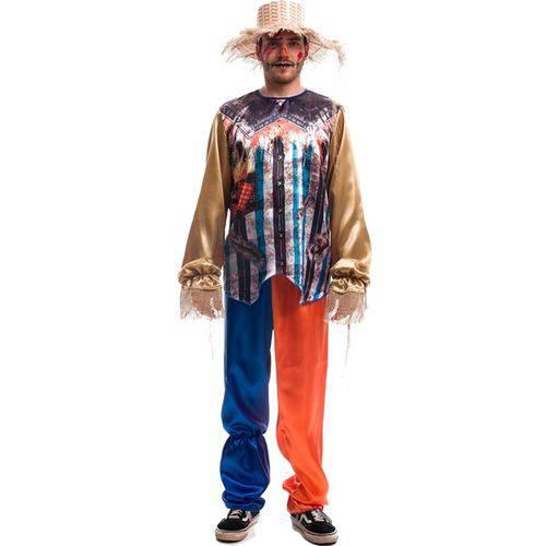 Fantasia de Halloween Adulto Masculino Mágico de Oz Espantalho com Chapéu