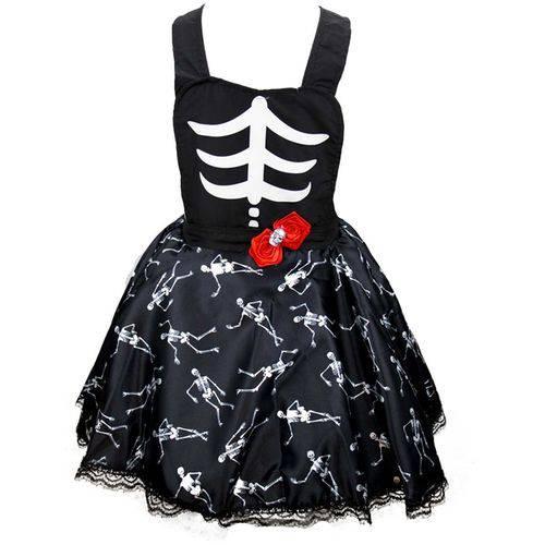 Fantasia de Halloween Infantil Jardineira Feminina
