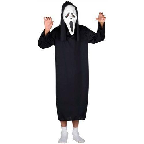 Fantasia de Panico Infantil Halloween com Máscara - M 5 - 8