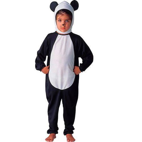 Fantasia de Urso Panda Infantil Animais Completa com Touca