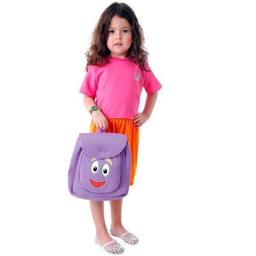 Fantasia Dora Aventureira Infantil Completa com Mochilinha