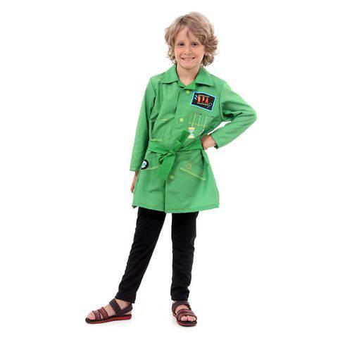 Fantasia Dpa Detetives do Prédio Azul Infantil Capa Verde Tom