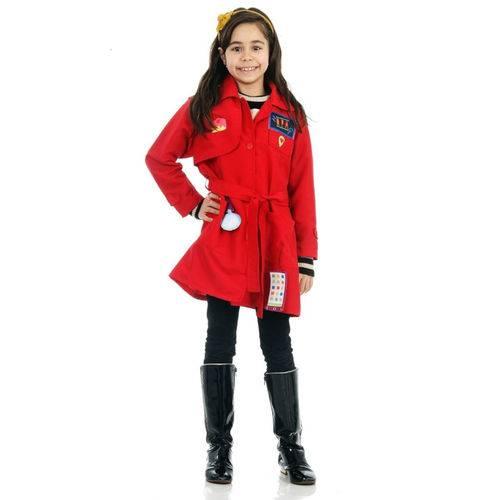 Fantasia Dpa Detetives do Prédio Infantil Vermelha Luxo Original Gloob Sulamericana 25313