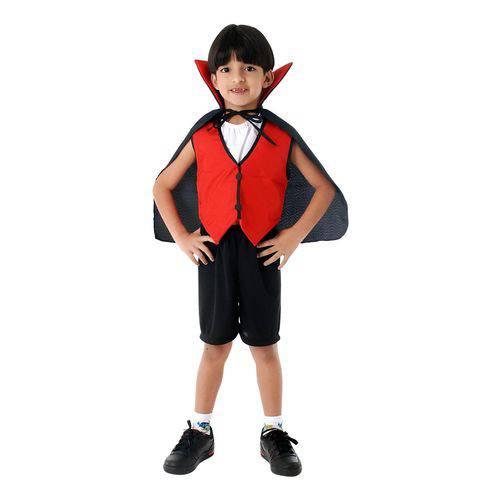 Fantasia Dracula Infantil Curto