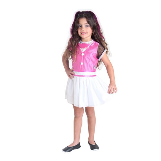 Fantasia Draculaura Infantil Pop - Monster High M