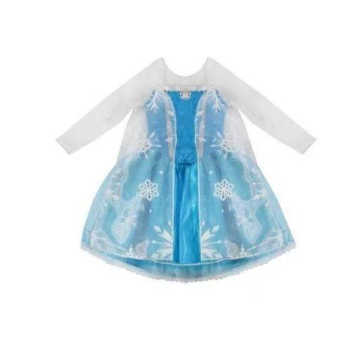 Fantasia Elsa Infantil Tam 10