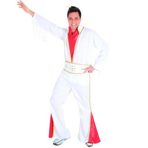 Fantasia Elvis Presley Adulto Completa de Luxo Sulamericana