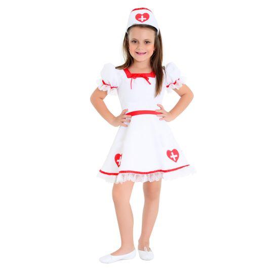 Fantasia Enfermeira Infantil Luxo P