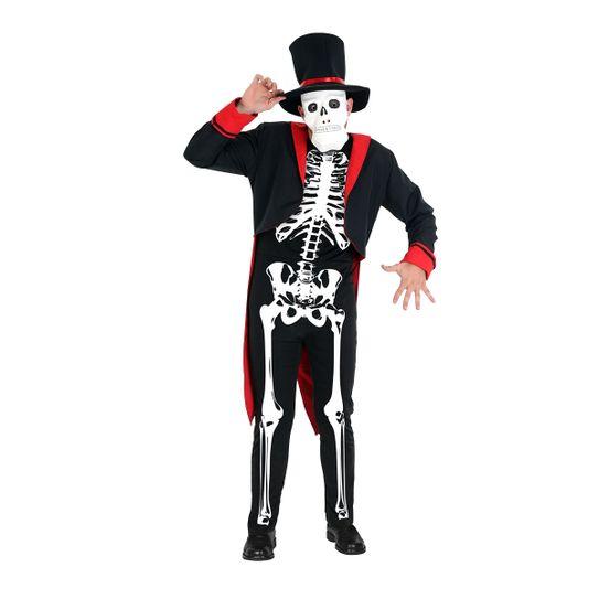 Fantasia Esqueleto Adulto Luxo P