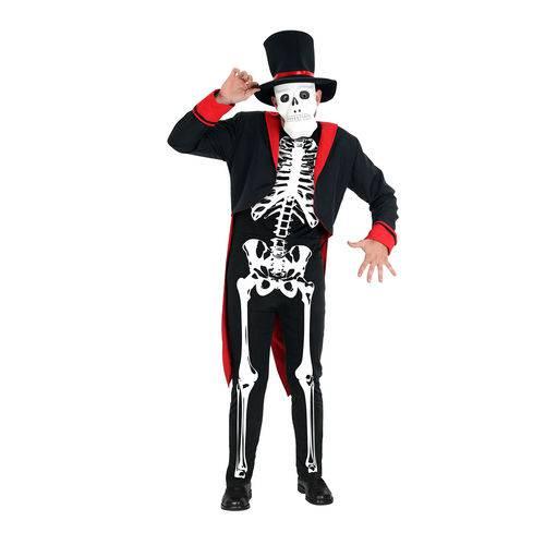 Fantasia Esqueleto Adulto Luxo