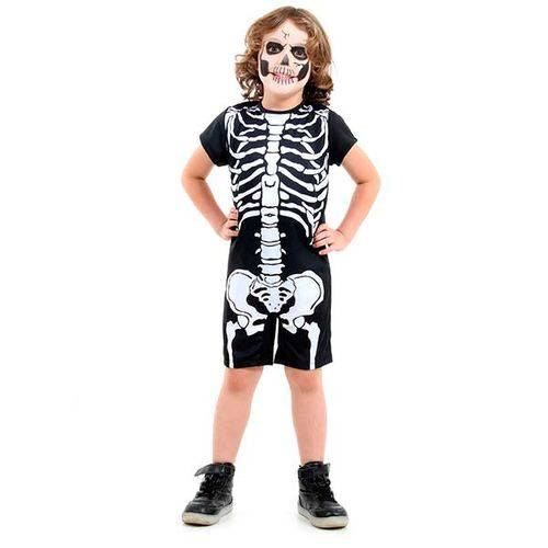 Fantasia Esqueleto Infantil Curta