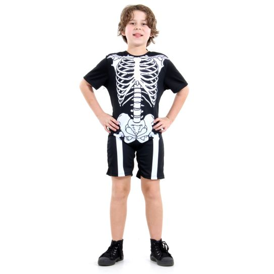 Fantasia Esqueleto Infantil Curto P